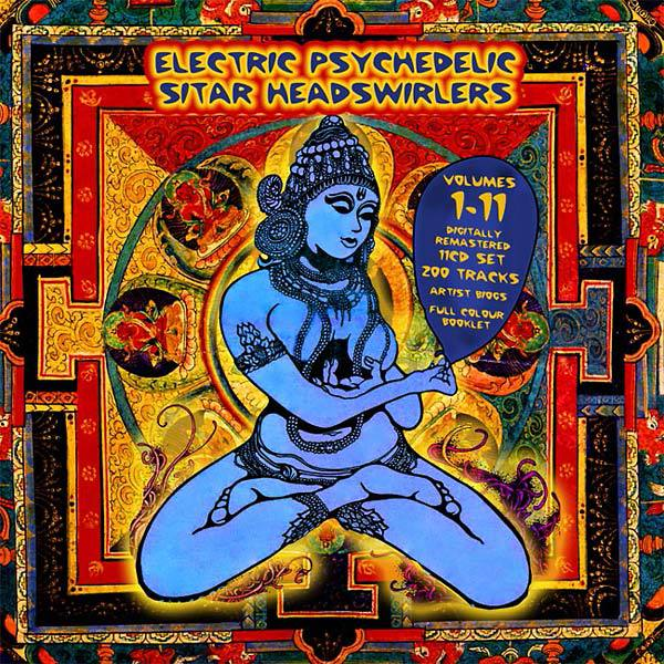 Cover Box Electric Psychedelic Sitar Headswirlers Volume 1-11