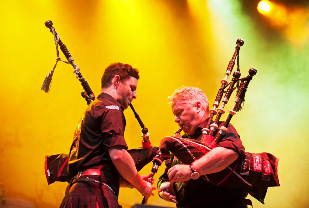Die Red Hot Chilli Pipers beim Bardentreffen 2017 * Foto: Doris Joosten