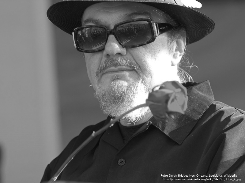 Dr. John * Foto: Derek Bridges New Orleans, Louisiana, Wikipedia,  https://commons.wikimedia.org/wiki/File:Dr._John_2.jpg